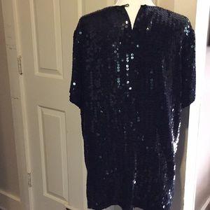 Diane Gilman Tops - Diane Gilman sequined 💯 % silk top size L